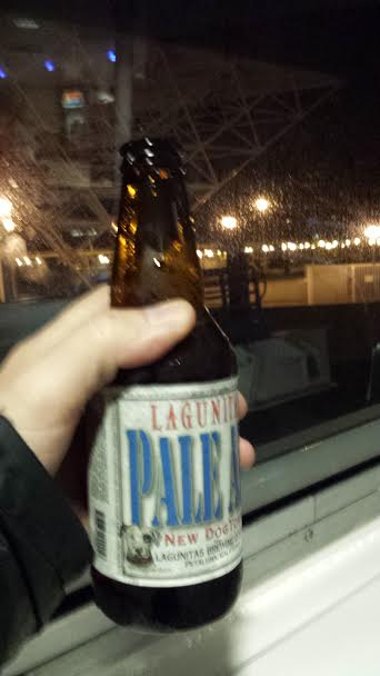 Celebratory Lagunitas aboard the Larkspur ferry after a very long day.