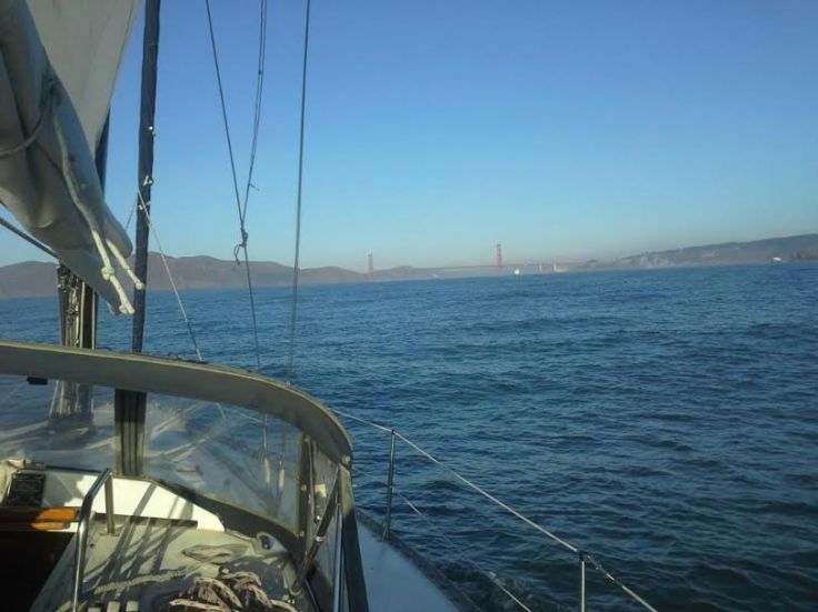 Headed into SF under the Golden Gate Bridge