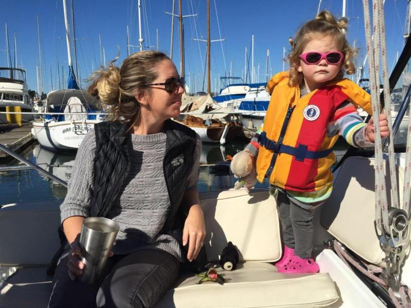 "Ruby showing Rachel how to have ""one hand for the boat."""